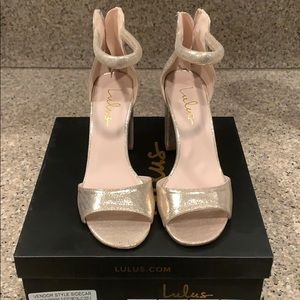 Lulu's Sidecar Heels in Champagne! Only worn once